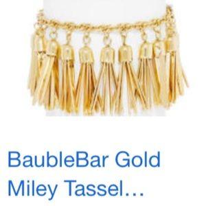 Baublebar Miley gold tassel bracelet